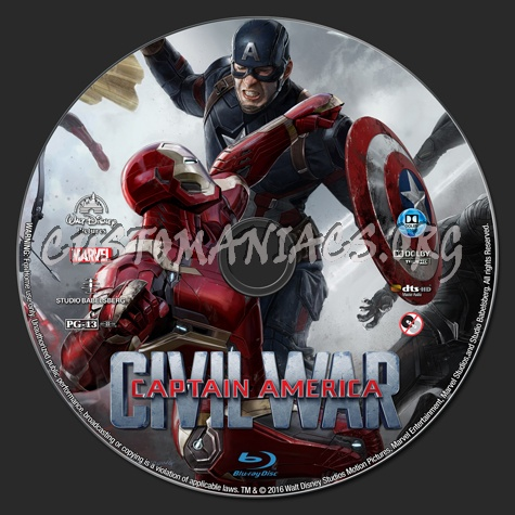 Captain America Civil War blu-ray label