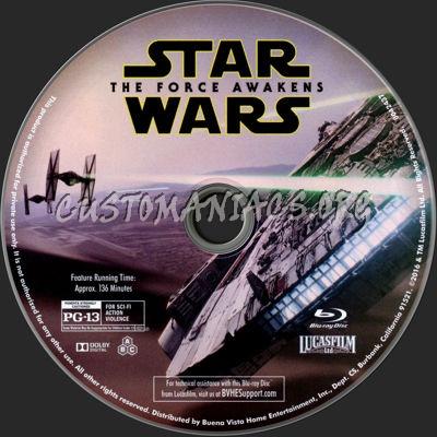 Star Wars: The Force Awakens blu-ray label
