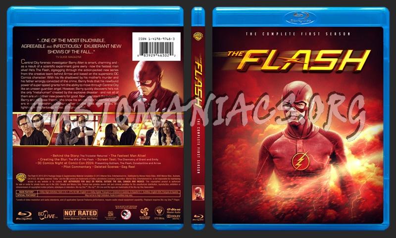 The Flash - Season 1 blu-ray cover