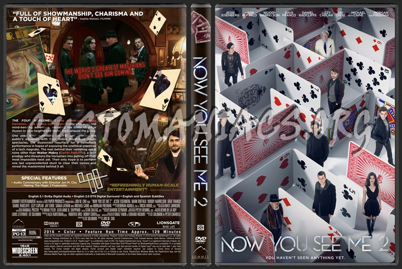 Now You See Me 2 dvd cover