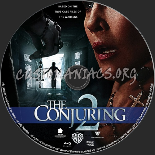 The Conjuring 2 blu-ray label