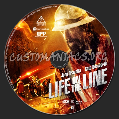 Life on the Line dvd label - DVD Covers & Labels by