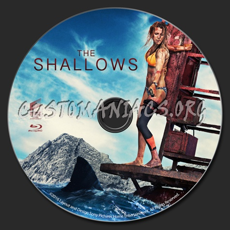 The Shallows blu-ray label