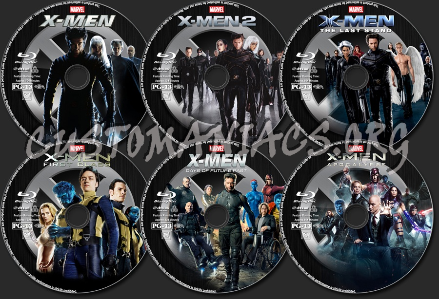 X-Men Collection blu-ray label