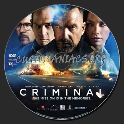Criminal dvd label