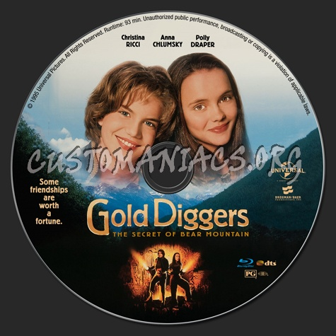 Gold Diggers: The Secret of Bear Mountain blu-ray label