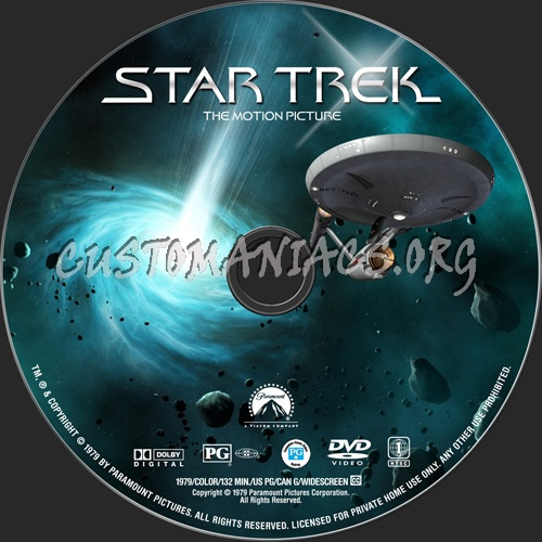 Star Trek - The Motion Picture dvd label