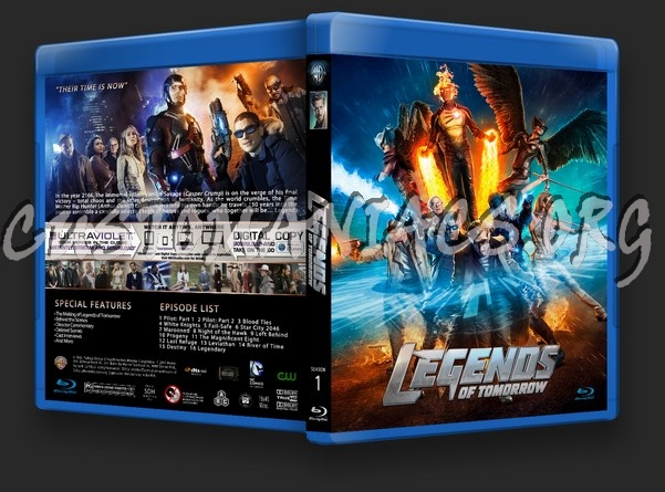 Legends of Tomorrow Season 1 blu-ray cover