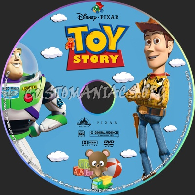 Toy Story dvd label