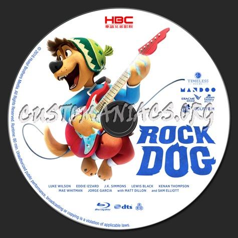 Rock Dog blu-ray label
