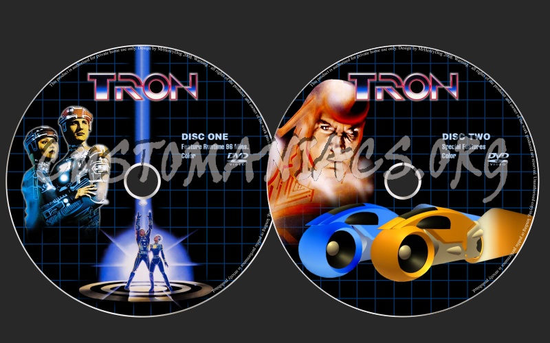 Tron dvd label
