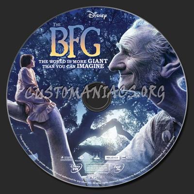 The BFG (Big Friendly Giant) 2016 dvd label
