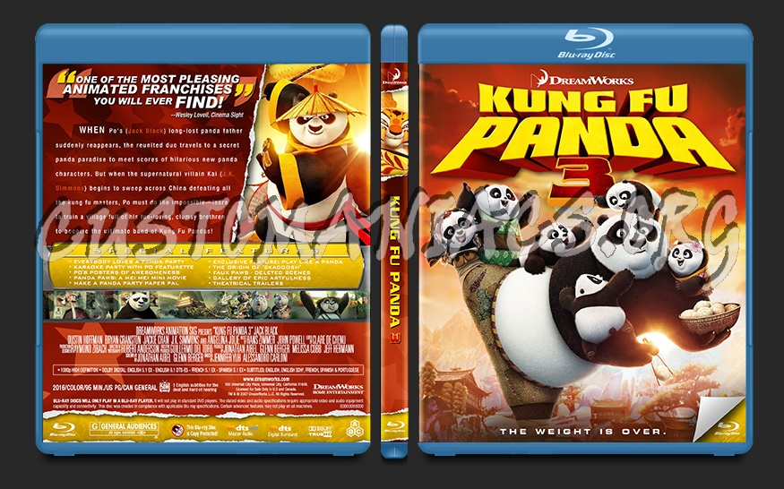 Kung Fu Panda 3 blu-ray cover