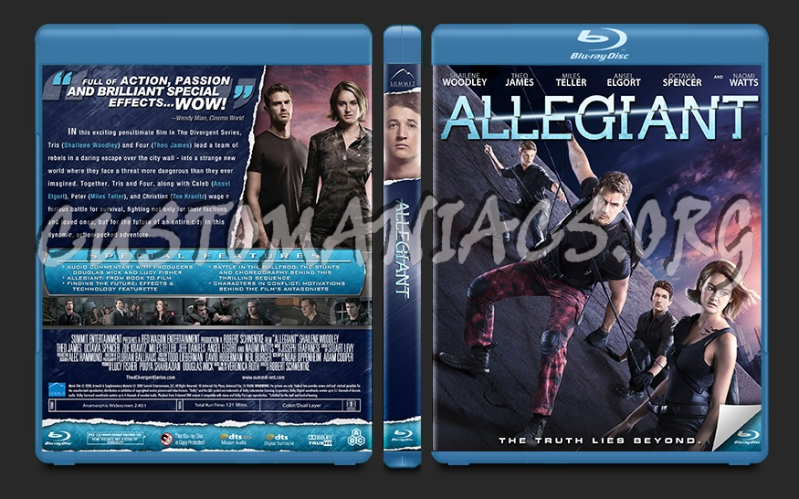 Allegiant blu-ray cover
