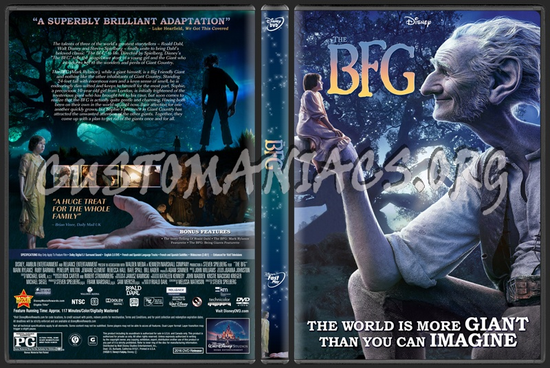 The BFG (Big Friendly Giant) 2016 dvd cover