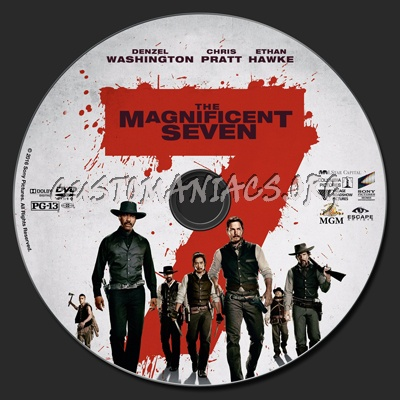 The Magnificent Seven (2016) dvd label