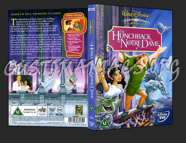 the hunchback of notre dame dvd cover dvd covers