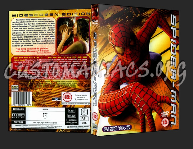 Spider-Man dvd cover