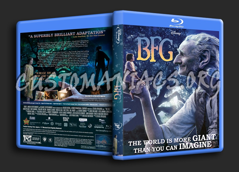 The BFG (Big Friendly Giant) 2016 blu-ray cover