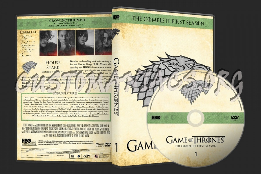 Game of Thrones Complete Collection Labels dvd label