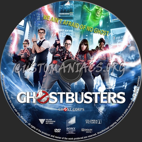 Ghostbusters 2016 dvd label