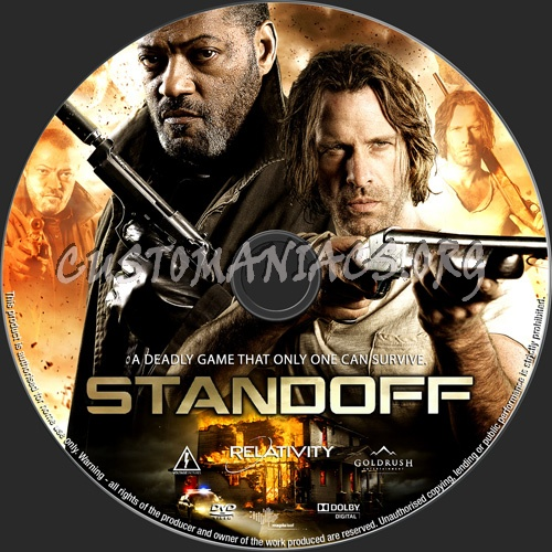 Standoff dvd label