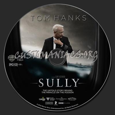 Sully blu-ray label
