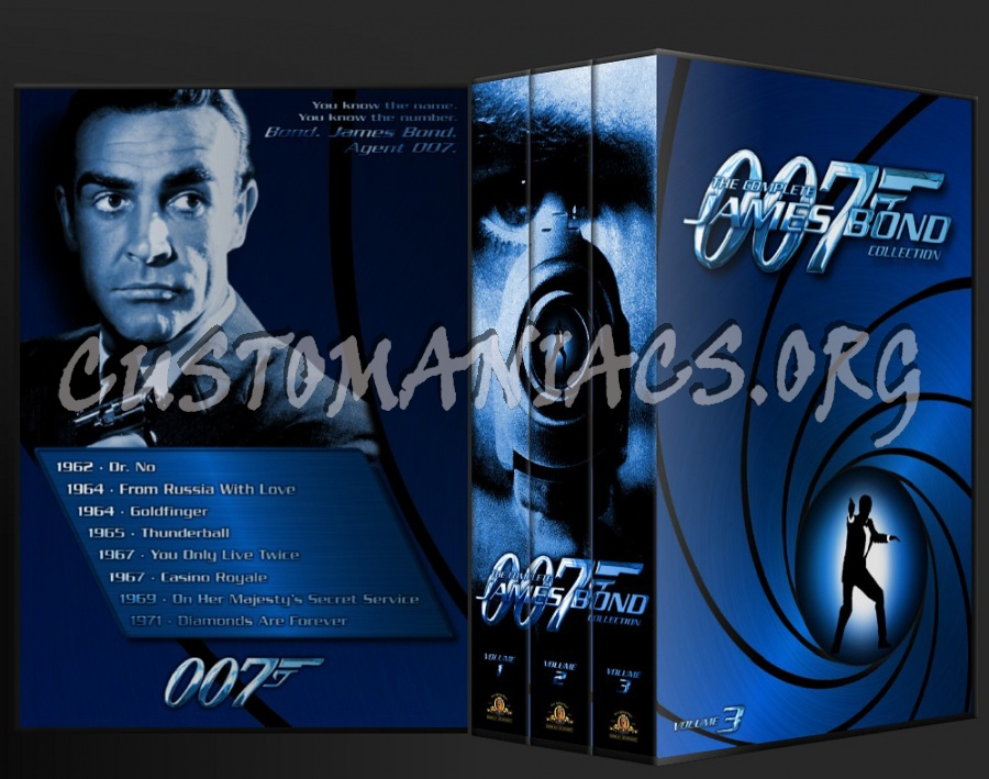 James Bond Volumes 1 - 3 (1962 - 2006) dvd cover