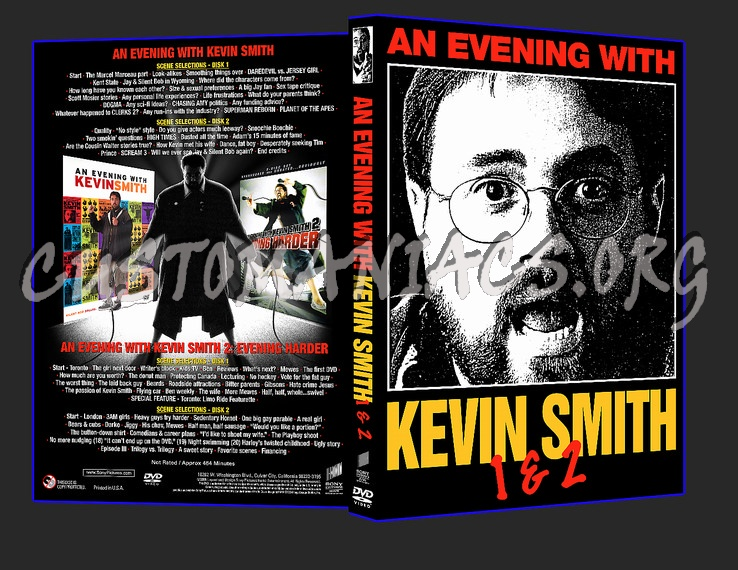 An Evening With Kevin Smith 1 & 2 dvd cover