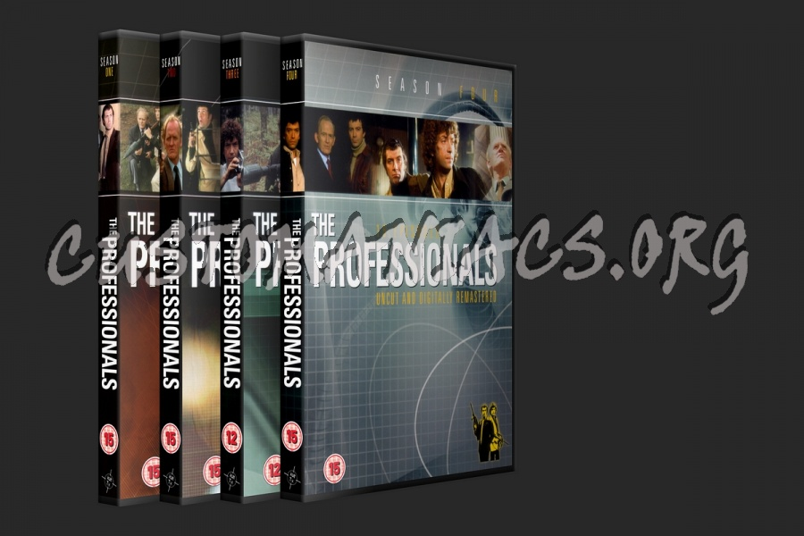 The Professionals Series 1, 2, 3, 4 dvd cover
