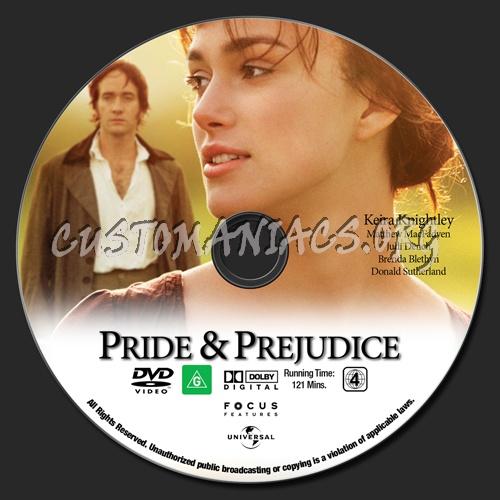 Pride & Prejudice dvd label