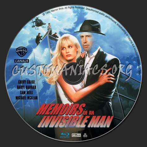 Memoirs of an Invisible Man blu-ray label
