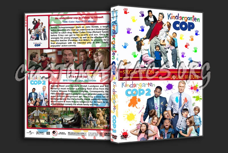 Kindergarten Cop Double Feature dvd cover