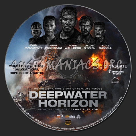 Deepwater Horizon (2D & 3D) blu-ray label