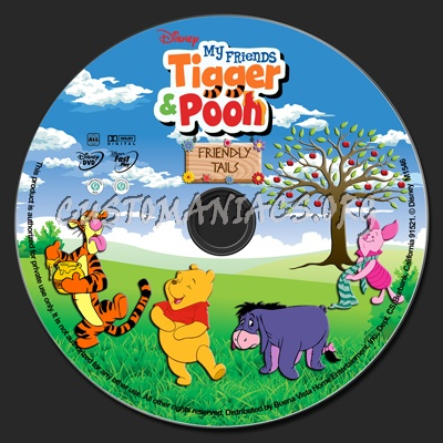 My friends tigger pooh friendly tails dvd label dvd covers my friends tigger pooh friendly tails dvd label altavistaventures Images