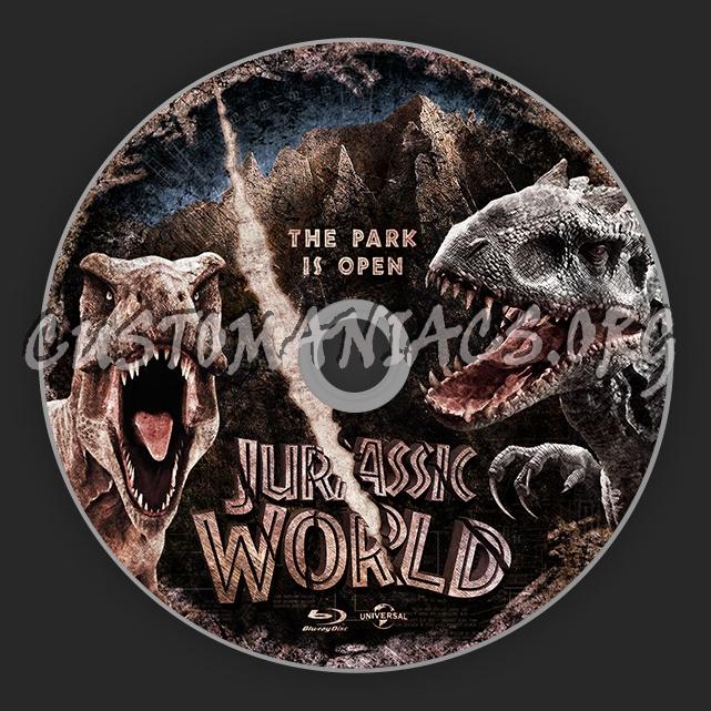 Jurassic World blu-ray label