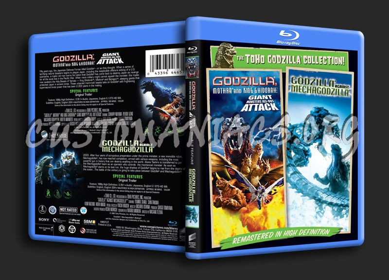 Godzilla Mothra & King Ghidorah Giant Monster All-Out Attack @ Godzilla Against Mecha blu-ray cover