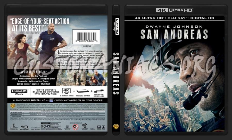 San Andreas 4K blu-ray cover