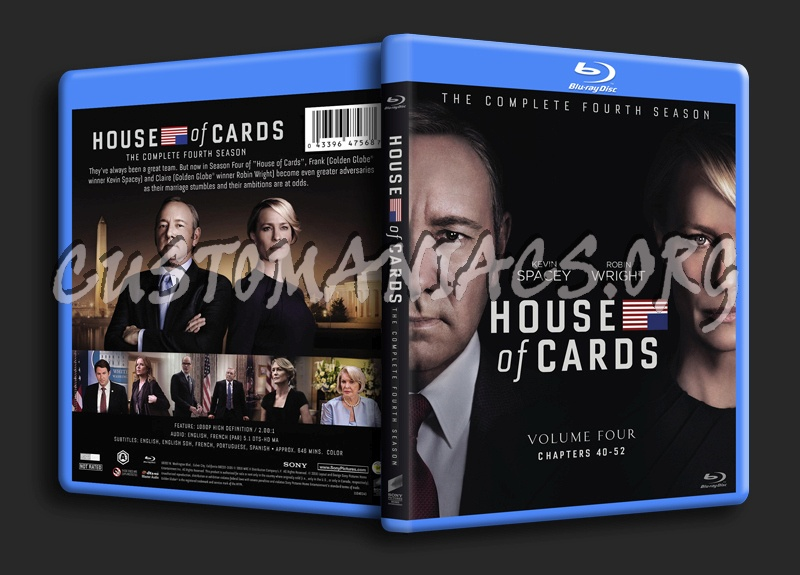 House of Cards Season 4 blu-ray cover