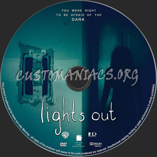 Lights Out dvd label