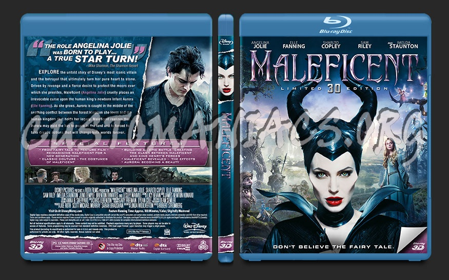 Maleficent blu-ray cover