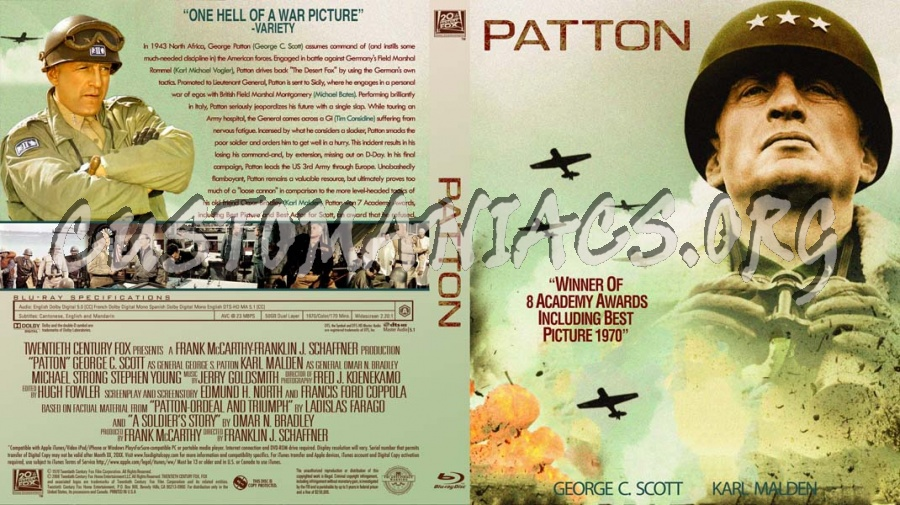 Patton blu-ray cover - DVD Covers & Labels by Customaniacs ...