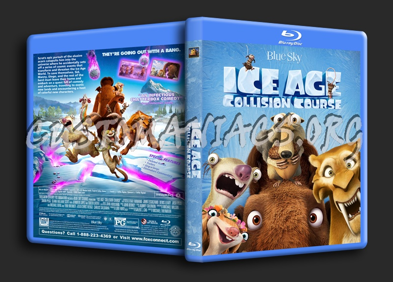 Ice Age: Collision Course blu-ray cover