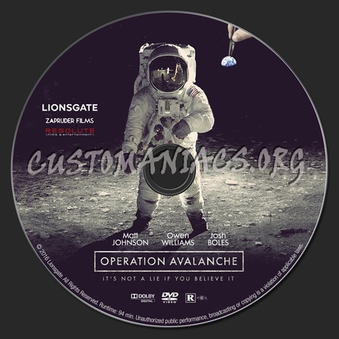 Operation Avalanche dvd label