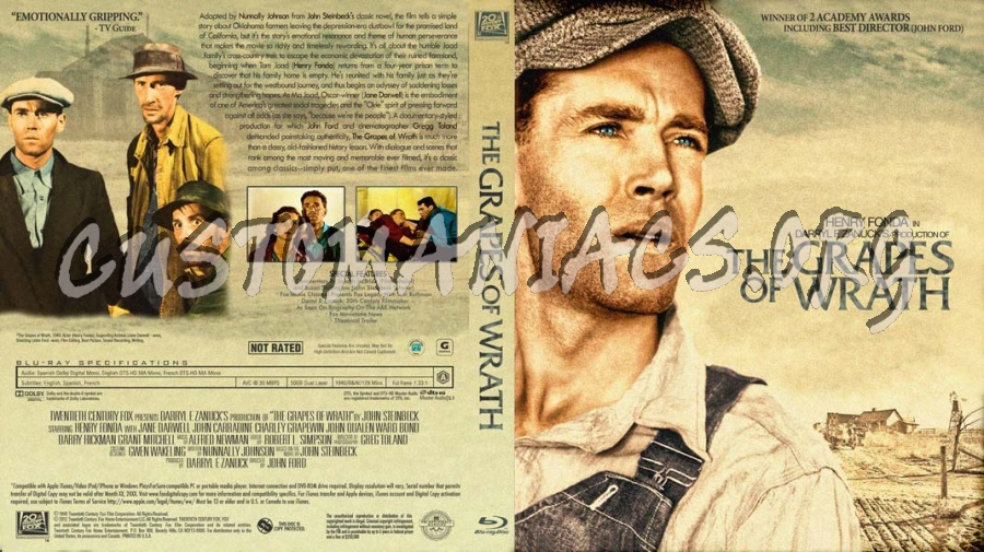 The Grapes of Wrath blu-ray cover