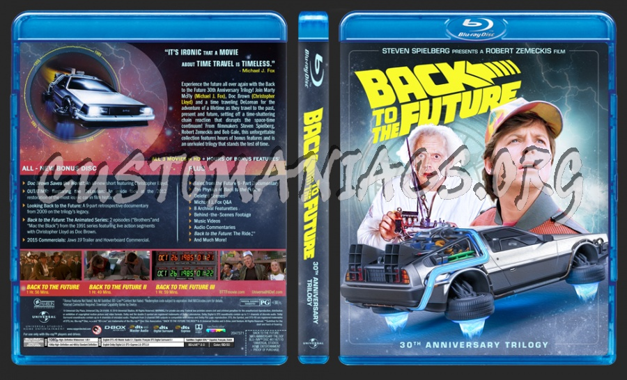 Back to the Future Trilogy: 30th Anniversary (2015) blu-ray cover