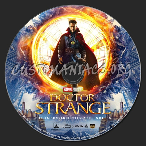 Doctor Strange (2D & 3D) blu-ray label