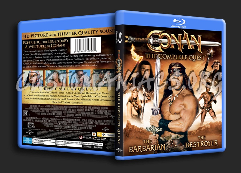 Conan The Complete Quest blu-ray cover