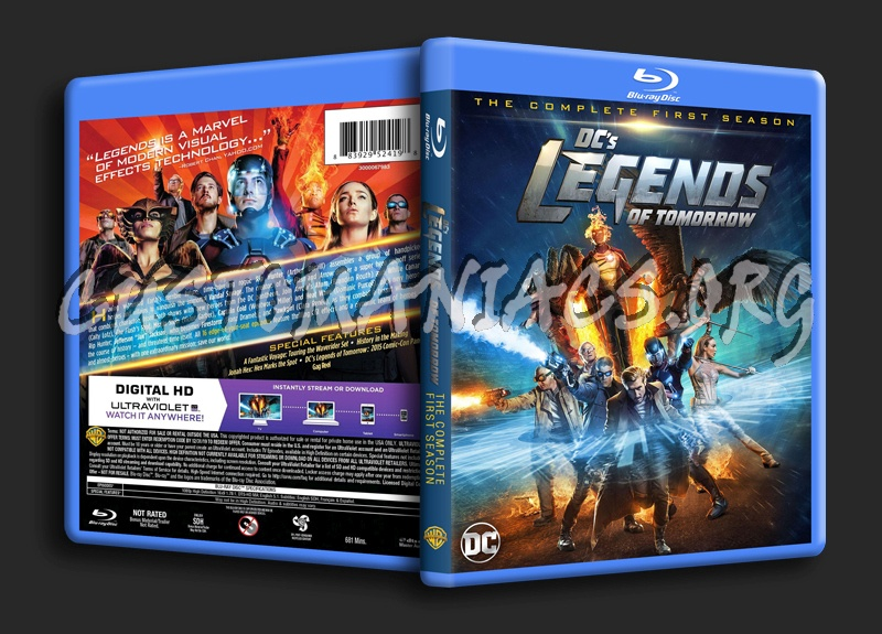 DC Legends of Tomorrow Season 1 blu-ray cover