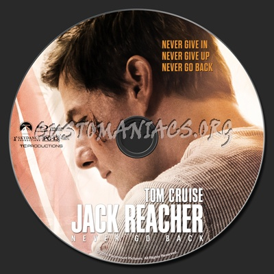 Jack Reacher: Never Go Back (aka Jack Reacher 2) blu-ray label